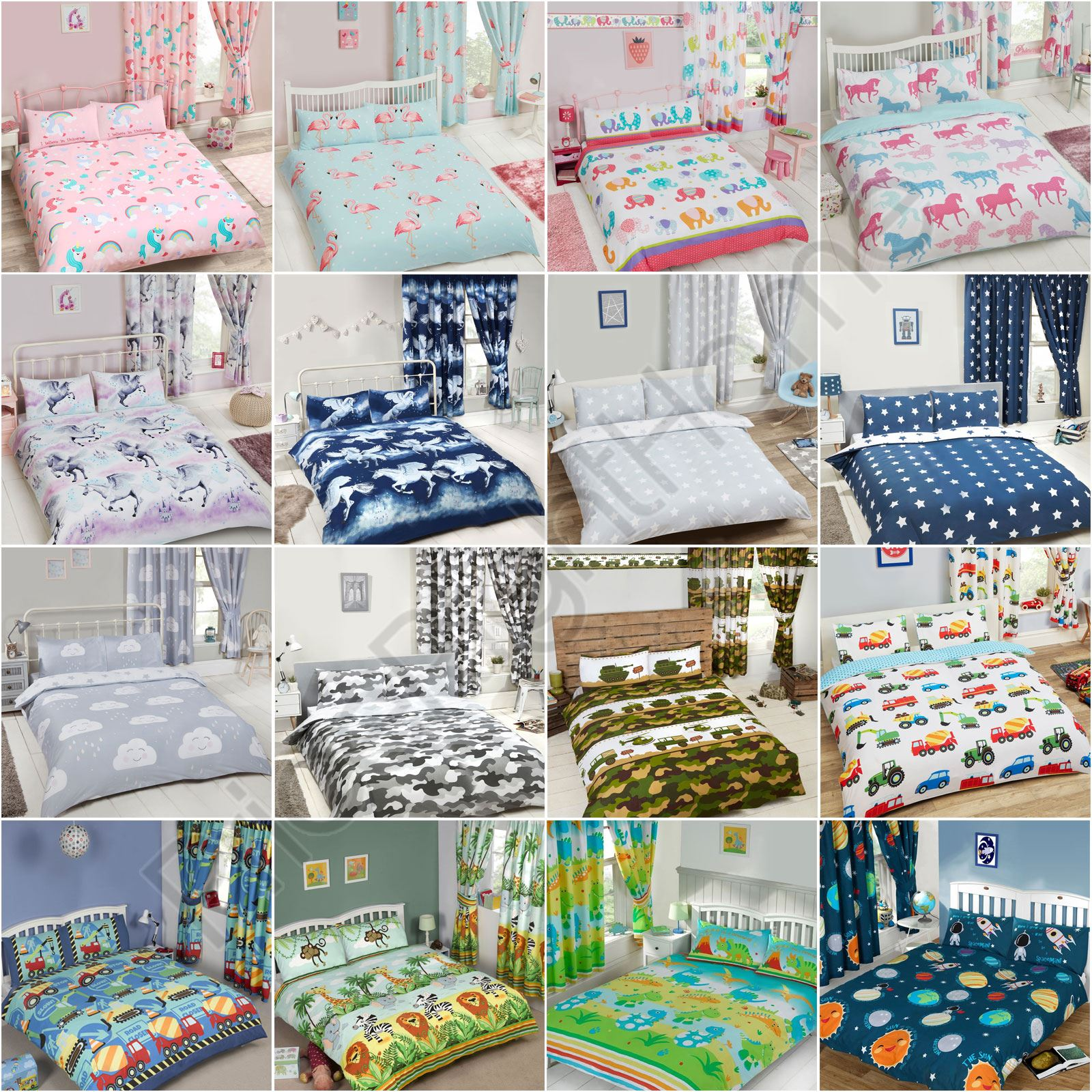 Boys Double Quilt Cover Details About Exclusive Double Duvet Cover Sets Kids Bedding Boys Girls Unicorn Stars Dino