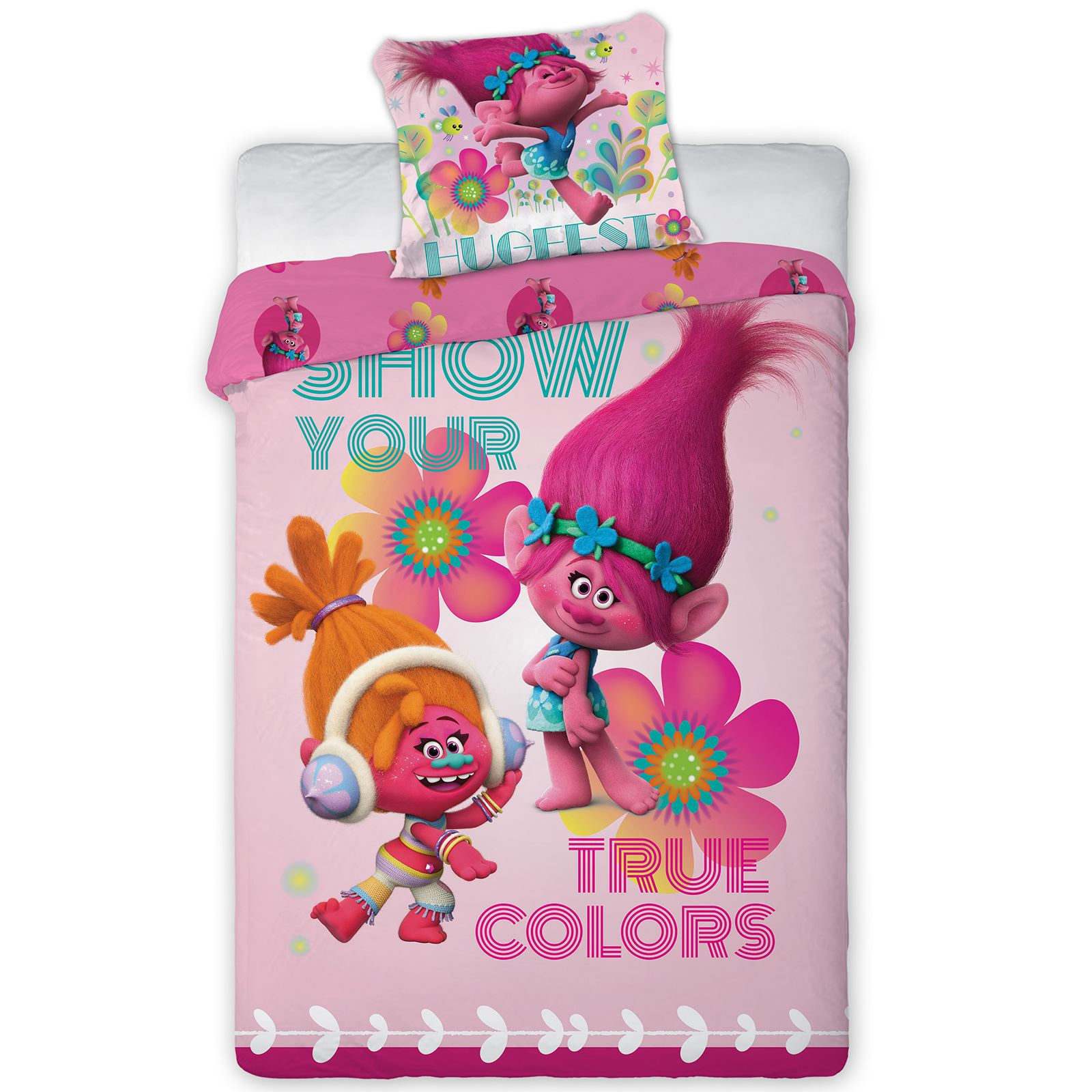 Lenzuola Soy Luna Trolls Duvet Cover And Pillowcase Sets Kids Bedding New