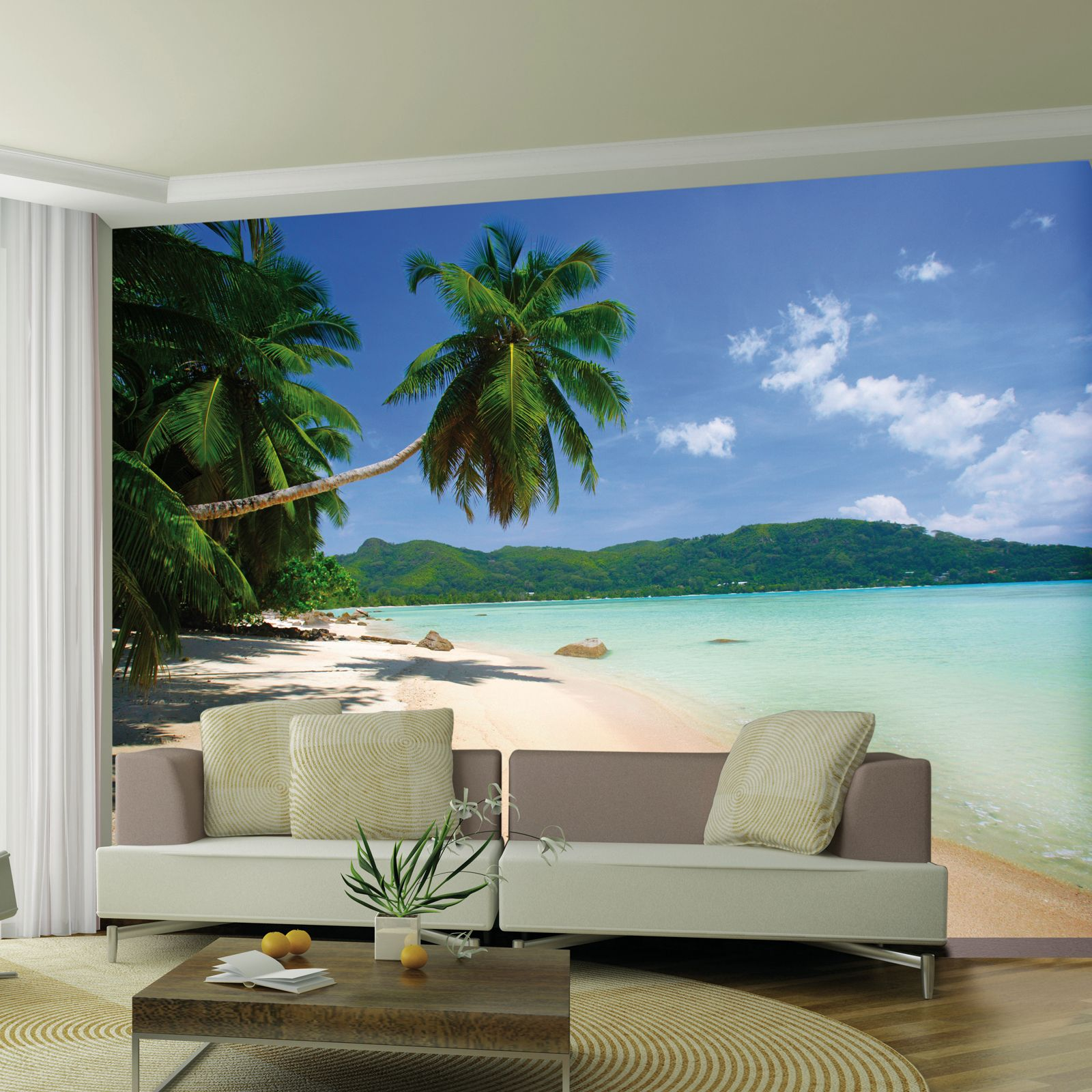 Déco Murale Diy Details About Desert Island Beach Wallpaper Wall Mural 2 32m X 3 15m Room Decor