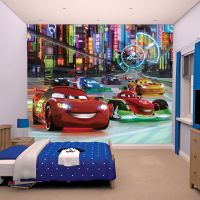 DISNEY CARS WALL MURALS 6 DESIGNS AVAILABLE KIDS BEDROOM ...