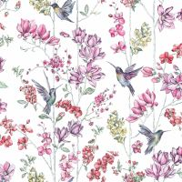 SHABBY CHIC FLORAL WALLPAPER IN VARIOUS DESIGNS WALL DECOR ...