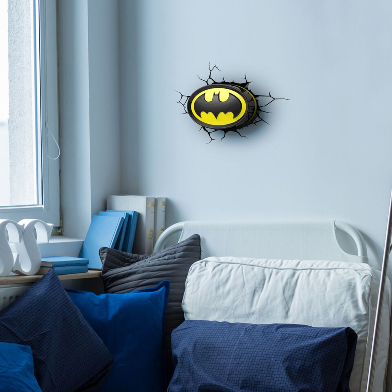 Boys Room Night Light Batman Logo 3d Led Wall Night Light New Official Bedroom