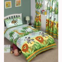 JUNGLE THEMED DUVET COVERS KIDS CHILDRENS ANIMALS - SINGLE ...