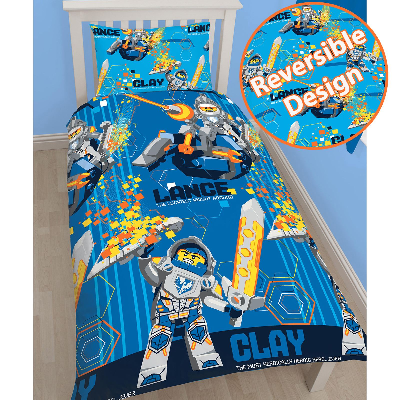 Knight Rider Bettwäsche Lego Nexo Knights Power Twin Duvet Cover Set Rotary