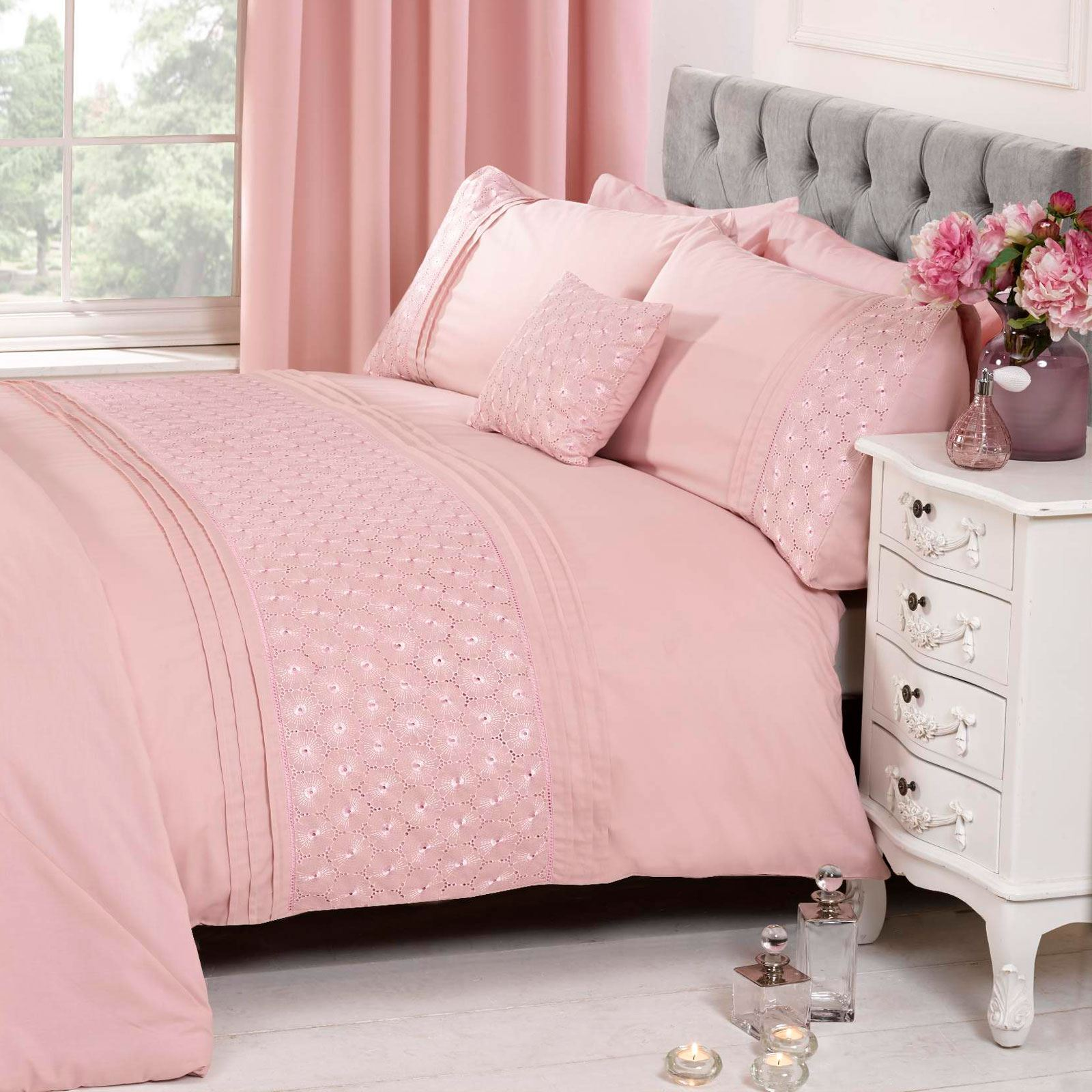 Blush Pink Quilt Cover Details About Everdean Floral Blush Pink Duvet Cover Pillowcase Set Elegant Double