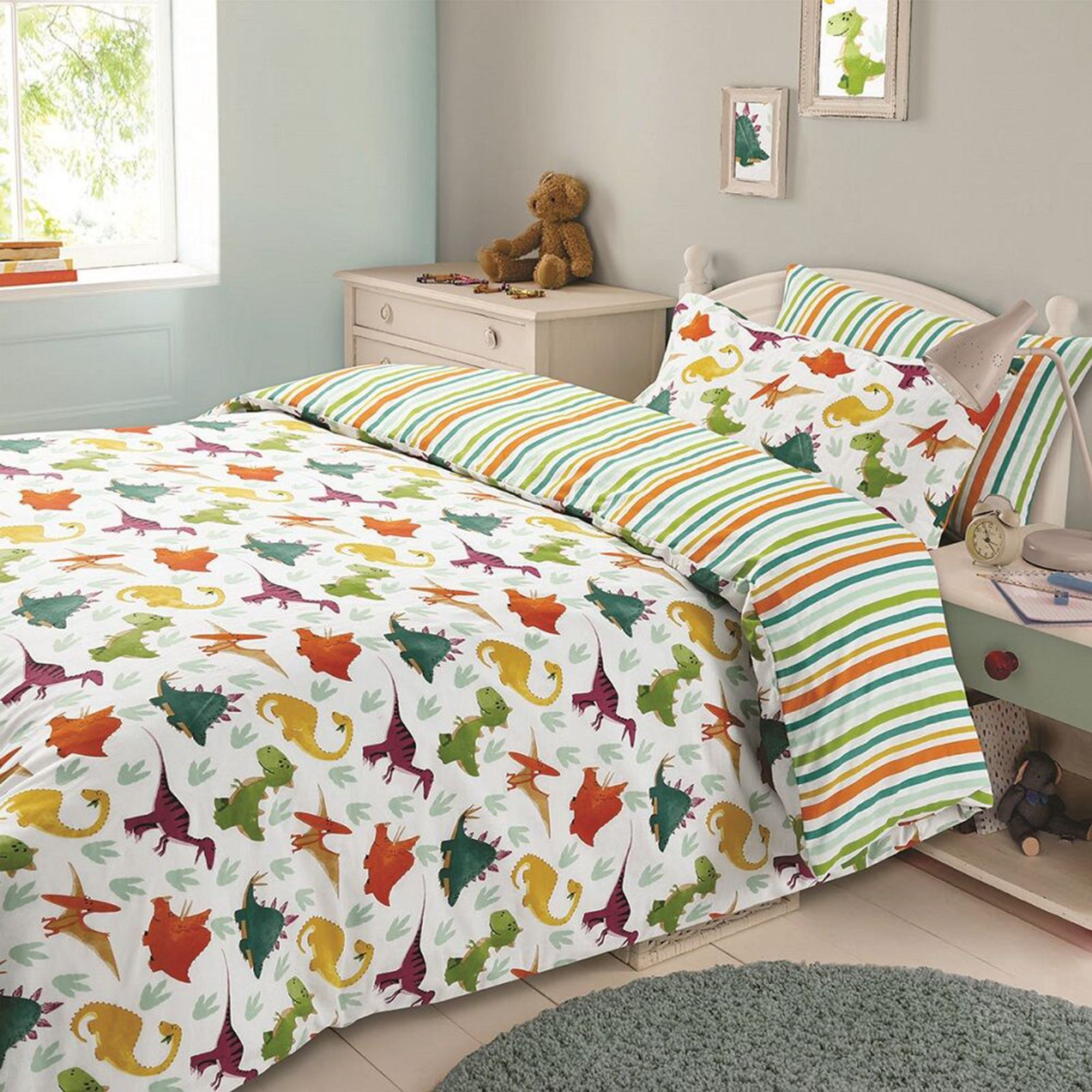 Boys Double Quilt Cover Details About Boys Double Duvet Cover Sets Army Cowboy Pirates Dinosaurs Farm Jungle More