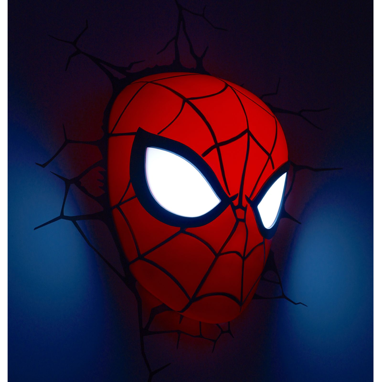Lampara Spiderman Marvel Spiderman 3d Led Wall Light Lamp Mask 43 Stickers