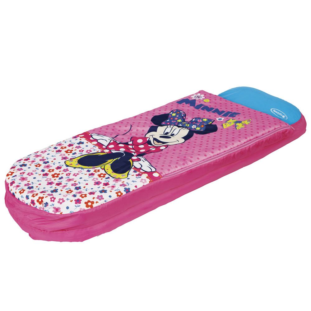 Camping Betten Für Kinder Details About Minnie Mouse Junior Ready Bed New Sleeping Bag Inflatable