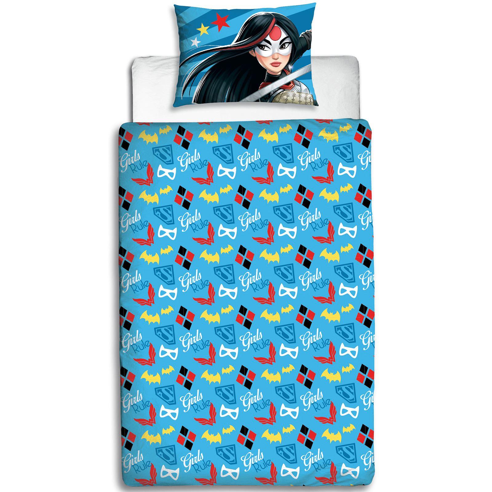 Dc Superhero Girls Bedroom Wallpaper Dc Super Hero Girls Single Duvet Cover Set Childrens