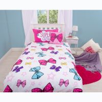 JOJO SIWA BOWS SINGLE DUVET COVER SET REVERSIBLE BEDDING ...