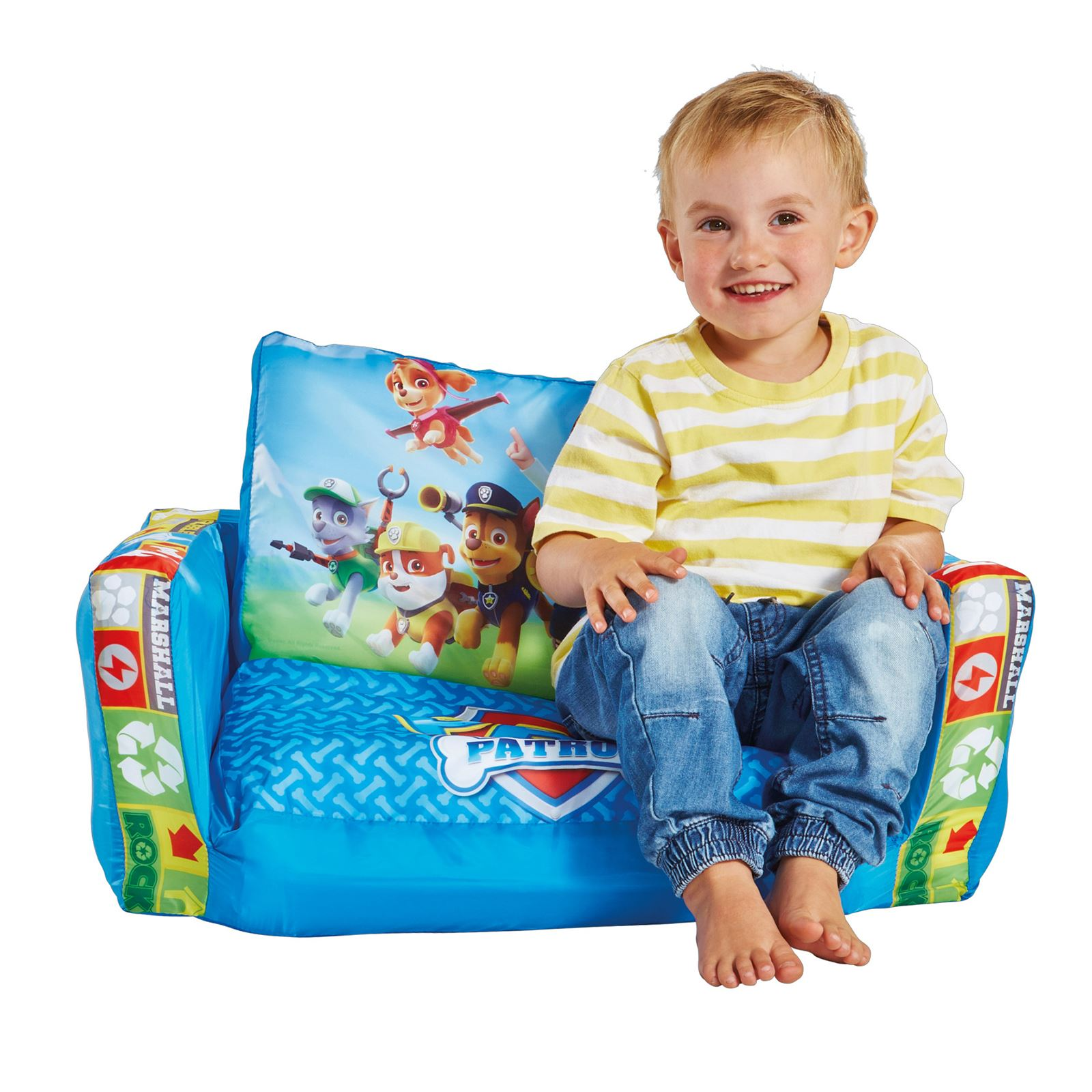 Flip Out Prices Paw Patrol Blue Kids Flip Out Sofa Inflatable Extend Seat
