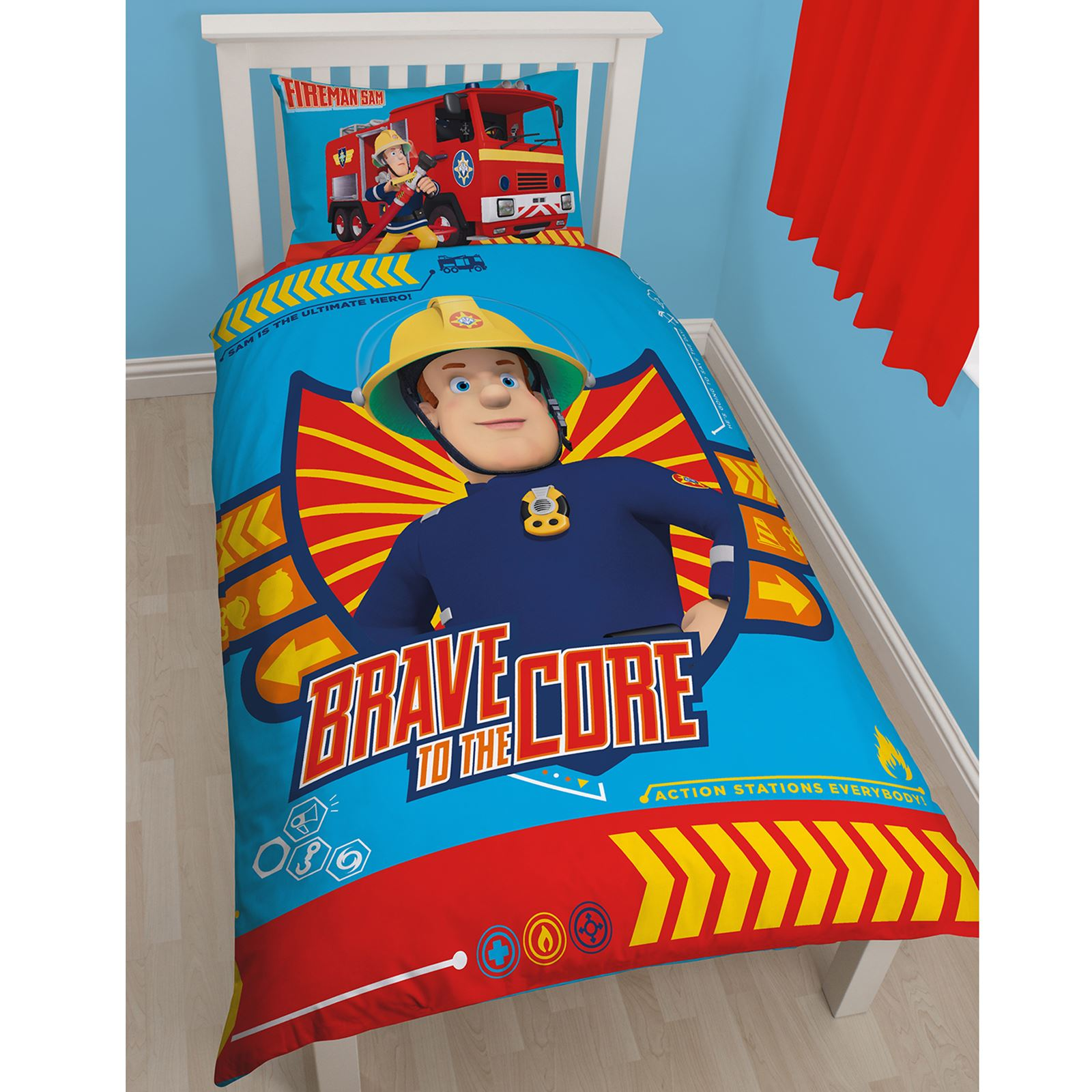Fireman Sam Duvet Cover Sets In Single Double And Junior