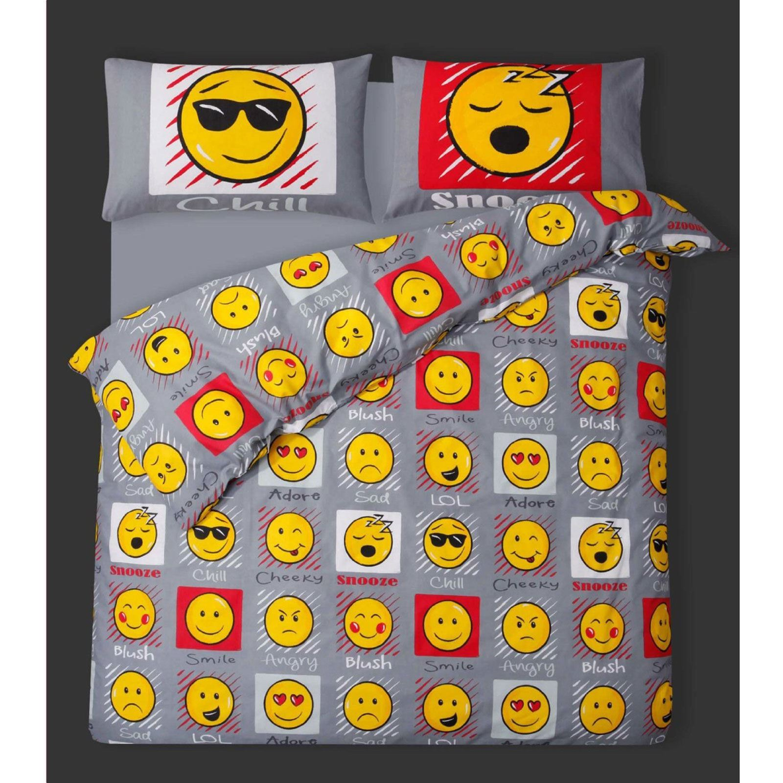 Emoji Expressions Smiley Face Single Duvet Cover
