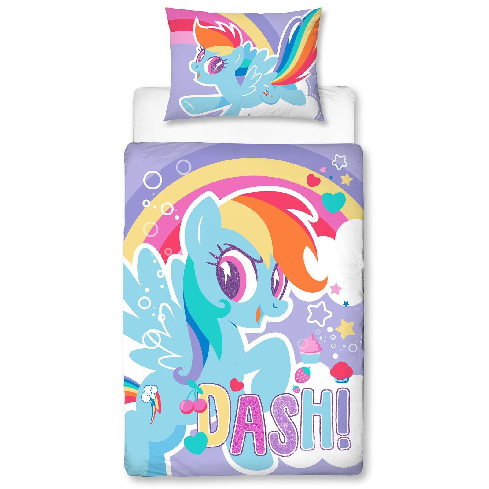 My Little Pony Bettwäsche Details About My Little Pony Crush Rainbow Dash Junior Duvet Cover Set Pillow Quilt 4 In 1