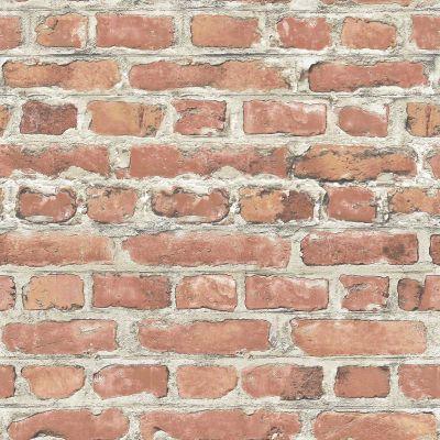 RASCH & FINE DECOR 10M LUXURY BRICK EFFECT WALLPAPER STONE WALL GREY BLACK RED | eBay