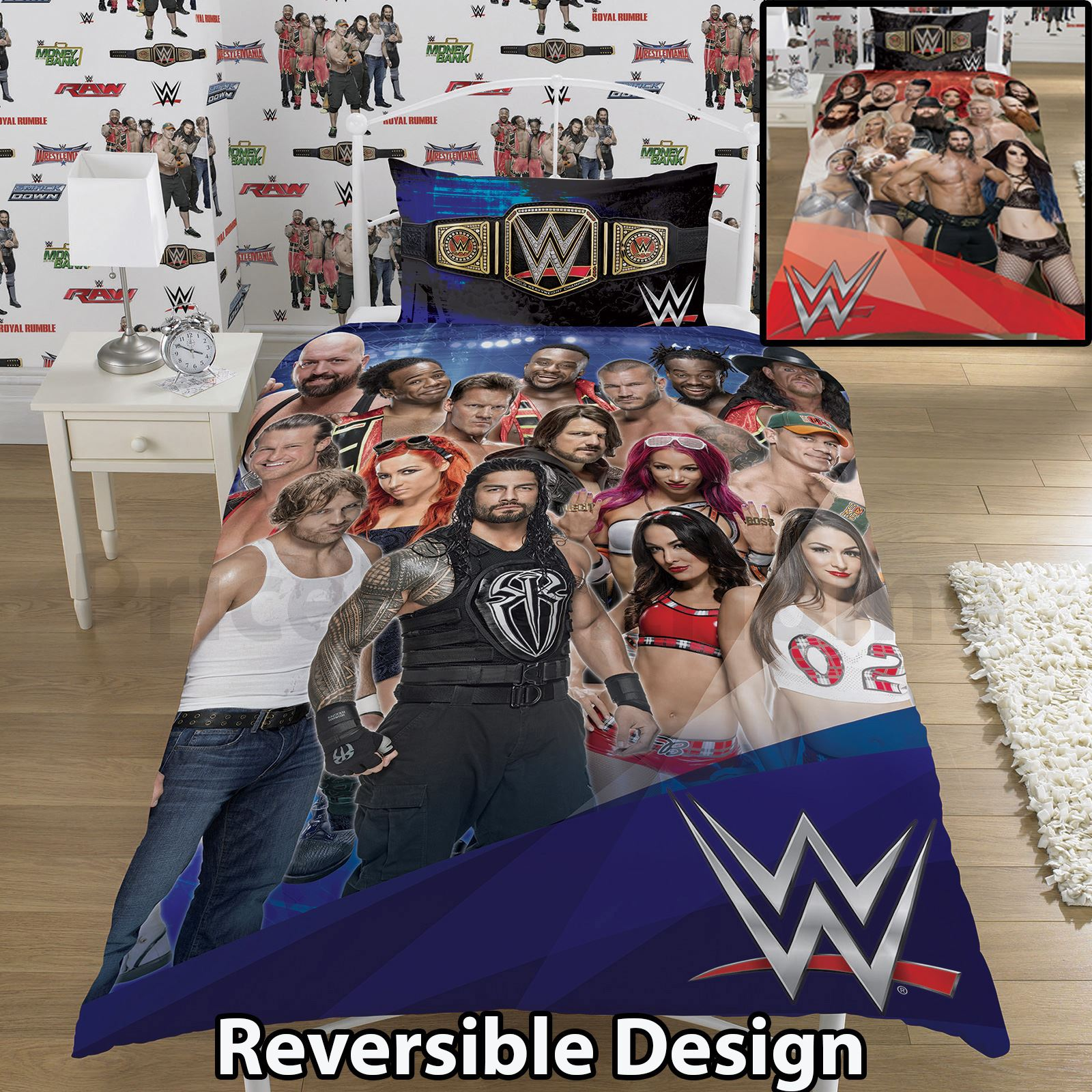 Wrestling Bettwäsche Wwe Wrestling Single Duvet Cover 2 In 1 Reversible Panel Designs | Ebay