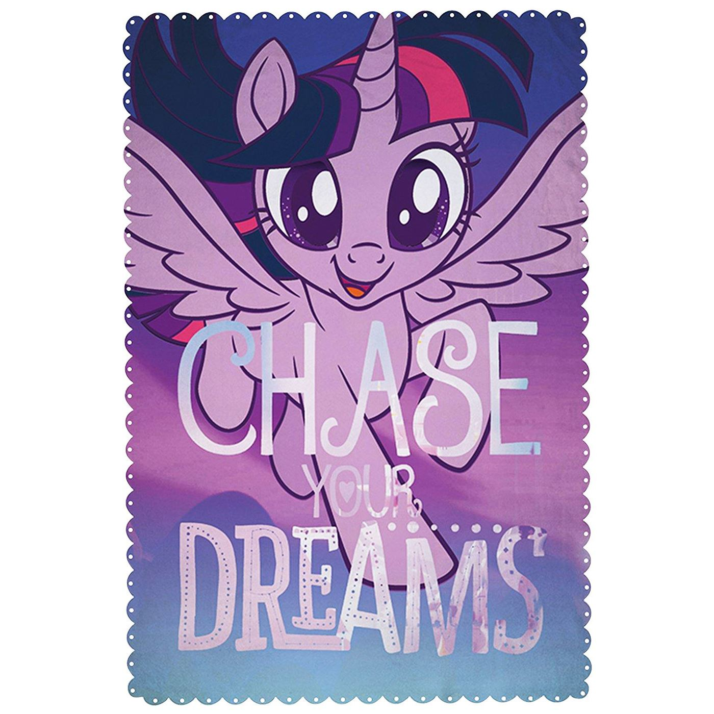 My Little Pony Bettwäsche Details About Official My Little Pony Movie Fleece Blanket Twilight Sparkle Unicorn Purple