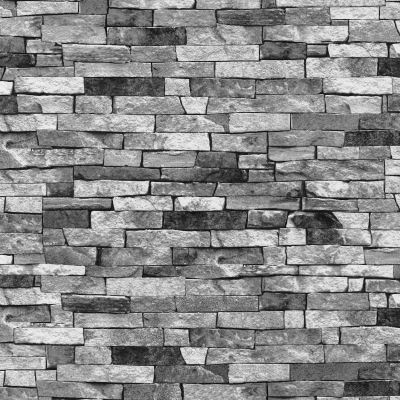 SLATE STONE WALL EFFECT WALLPAPERS – MODERN FEATURE WALL - GREY BLACK NATURAL   eBay