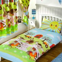 JUNIOR DUVET COVER SETS TODDLER BEDDING DINOSAUR CHRISTMAS ...