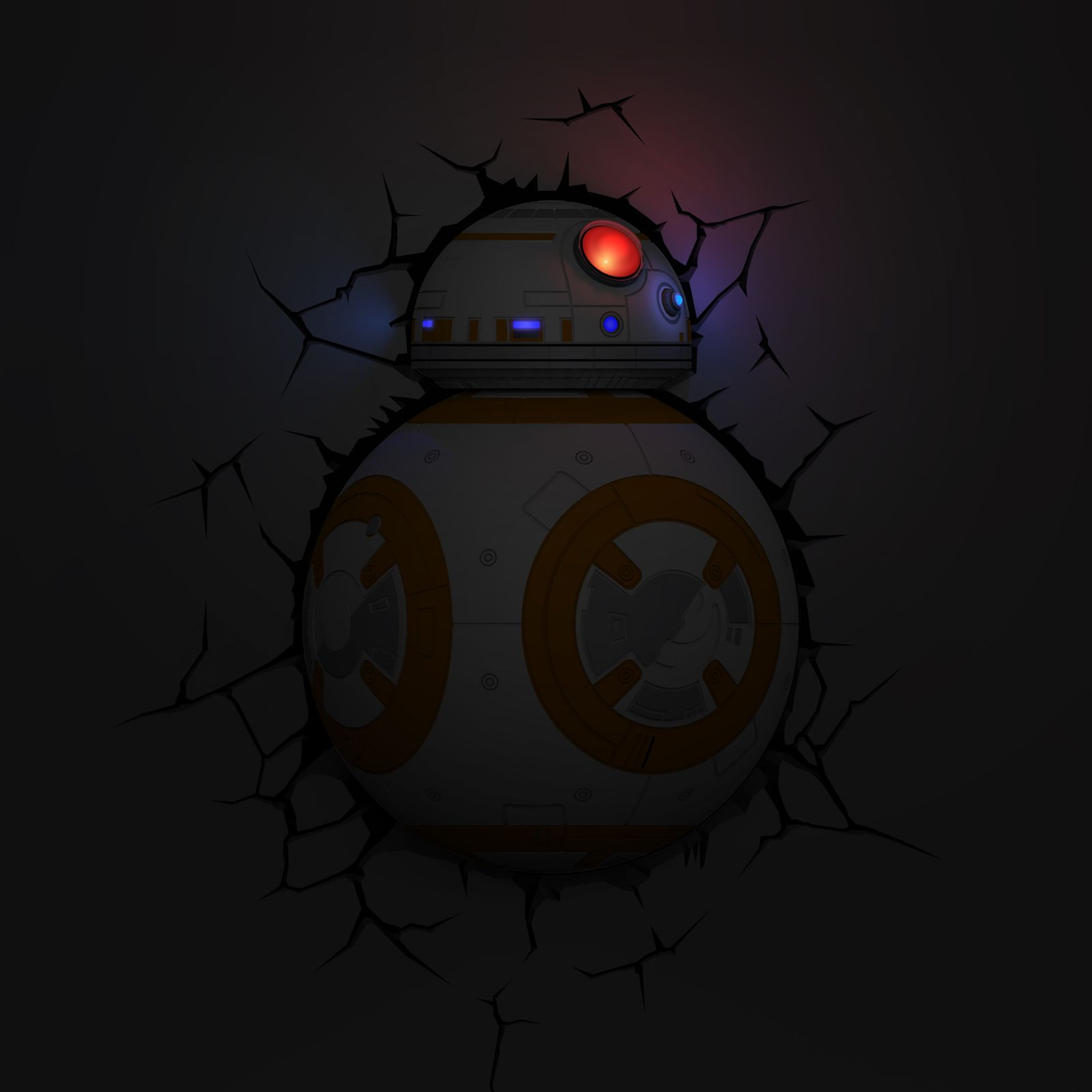3d Wall Night Lights Star Wars Bb 8 3d Led Decor Wall Light Night Lamp With
