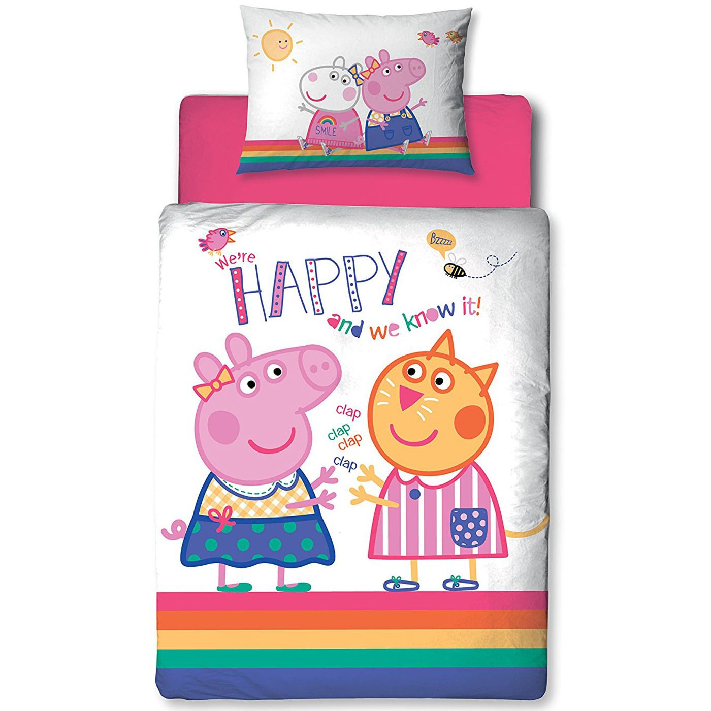 Peppa Pig Bettwäsche Peppa Pig Hurra Junior Kleinkinder Bettwäsche Set