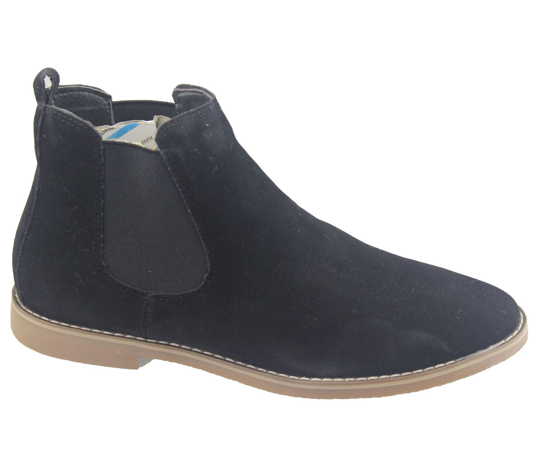 Mens Chelsea Boots Faux Suede Office Casual Dress Desert