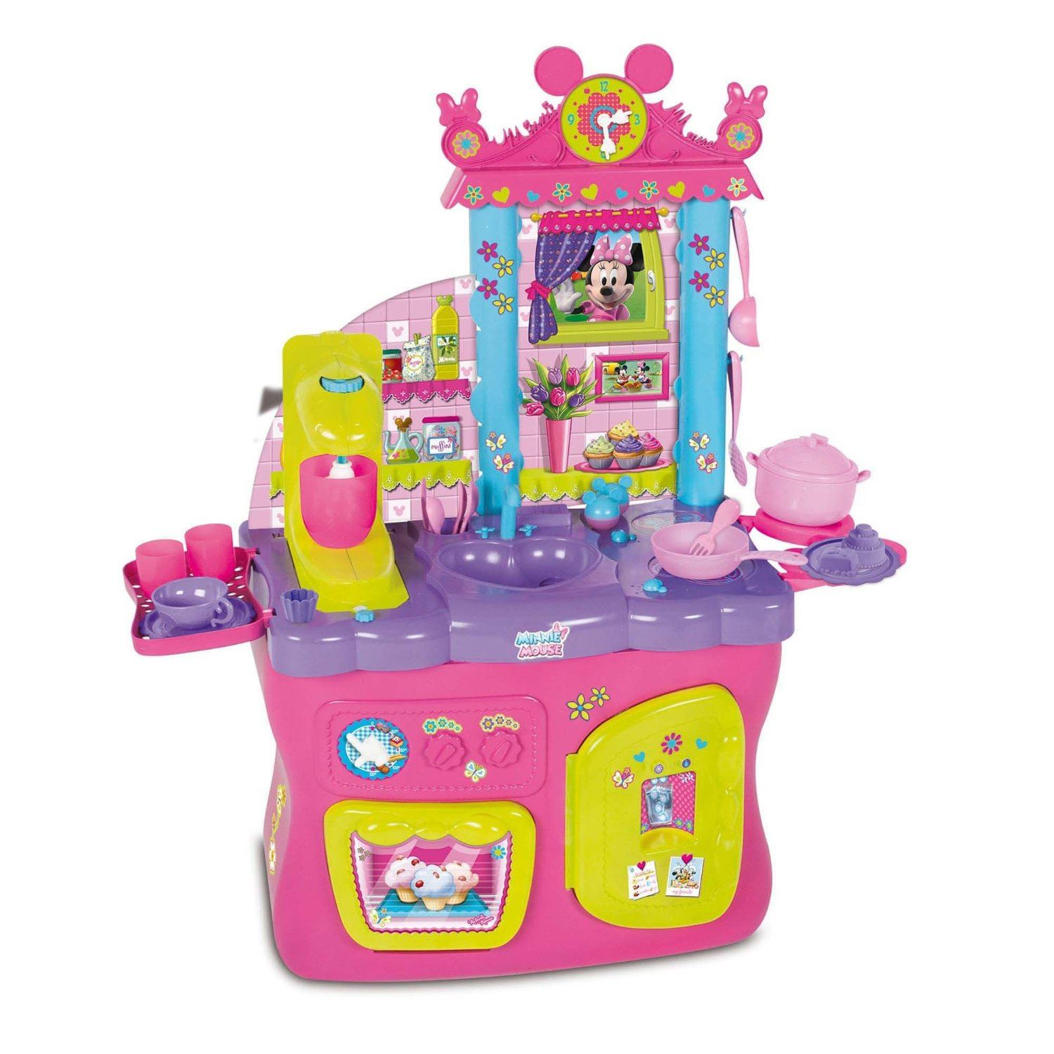 Cocina Minnie Mouse Disney Minnie Mouse Kitchen Girls Toy Cooking Playset With