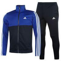adidas Mens 3S Basic Poly Tracksuit Stripe Sports Jacket ...