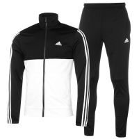 adidas Mens Back 2 Basics 3 Stripes Tracksuit Poly Long ...