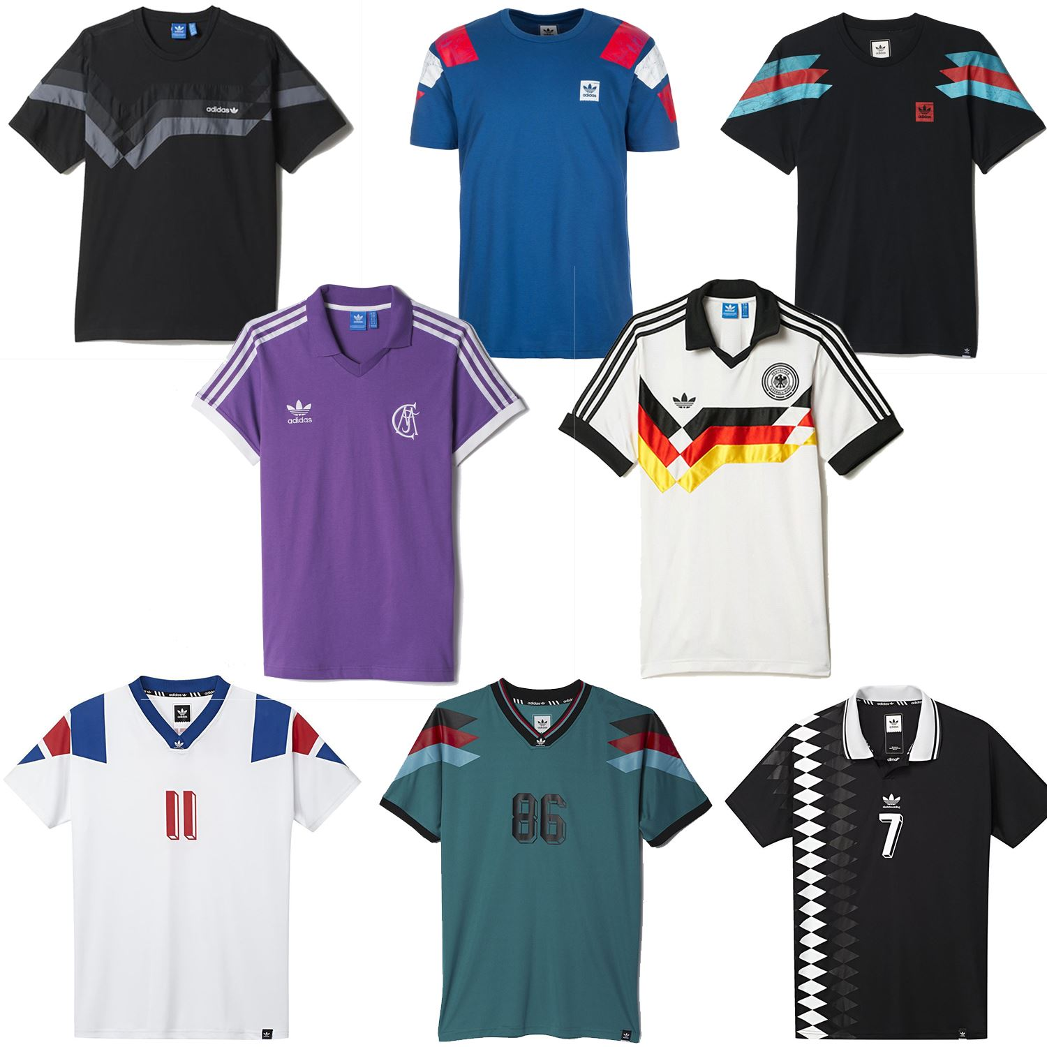 Retro Jerseys Details About Adidas Originals Retro Football Jerseys France Germany Spain Real Madrid Men S