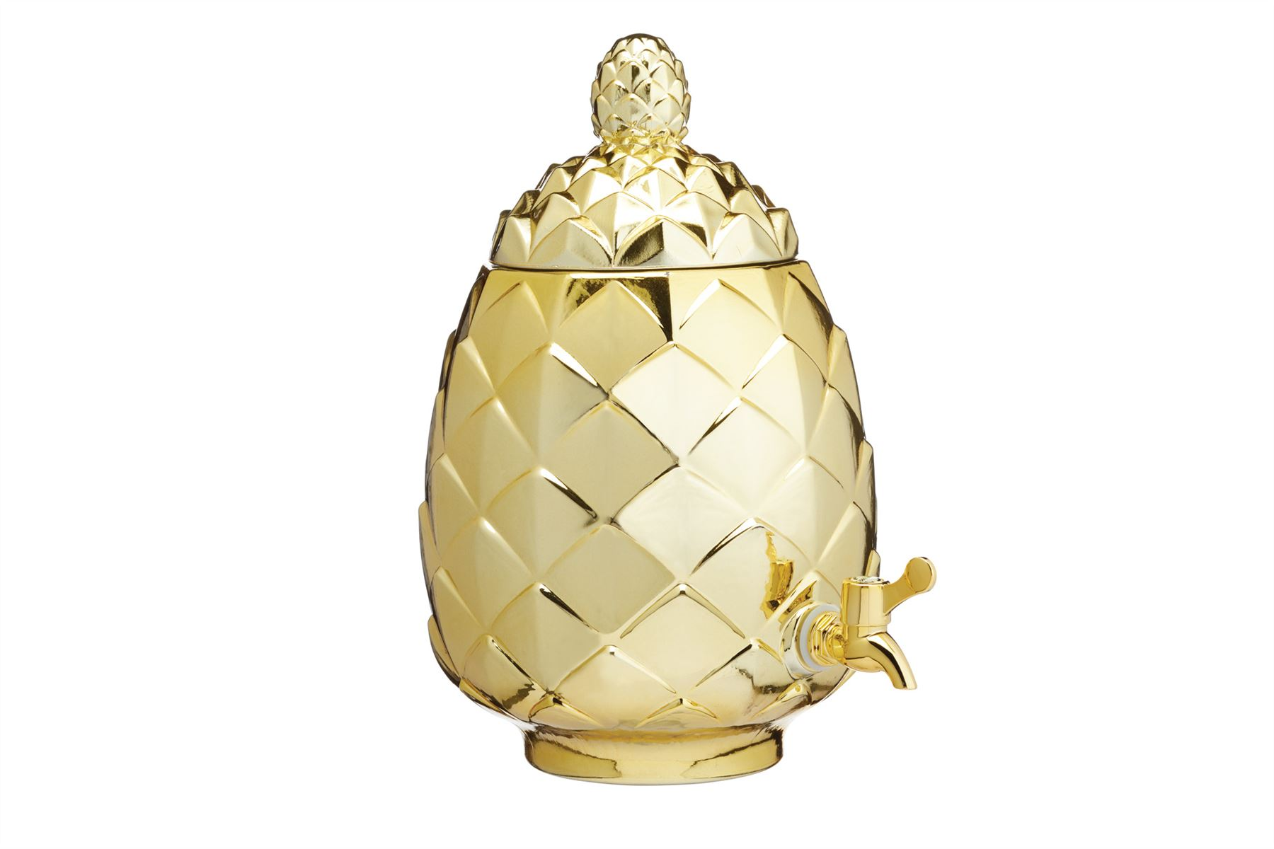 Yellow Möbel Recamiere Dispenser Pineapple Shaped Glass Barcraft Glass Drinks Gold
