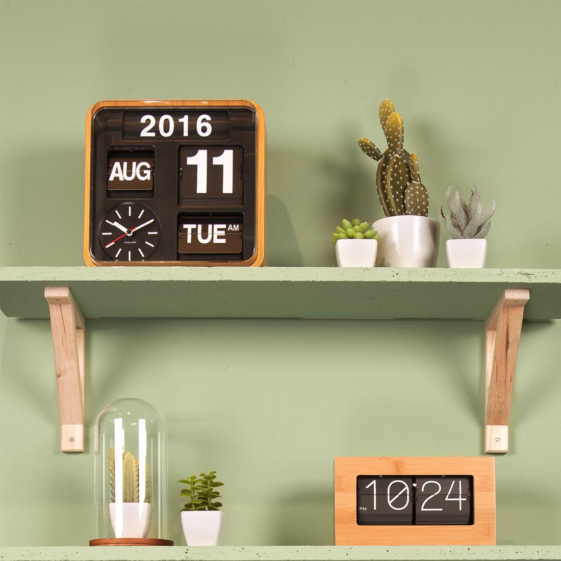 Big Flip Clock Karlsson Big Flip And Mini Flip Retro Wall Clocks With Day