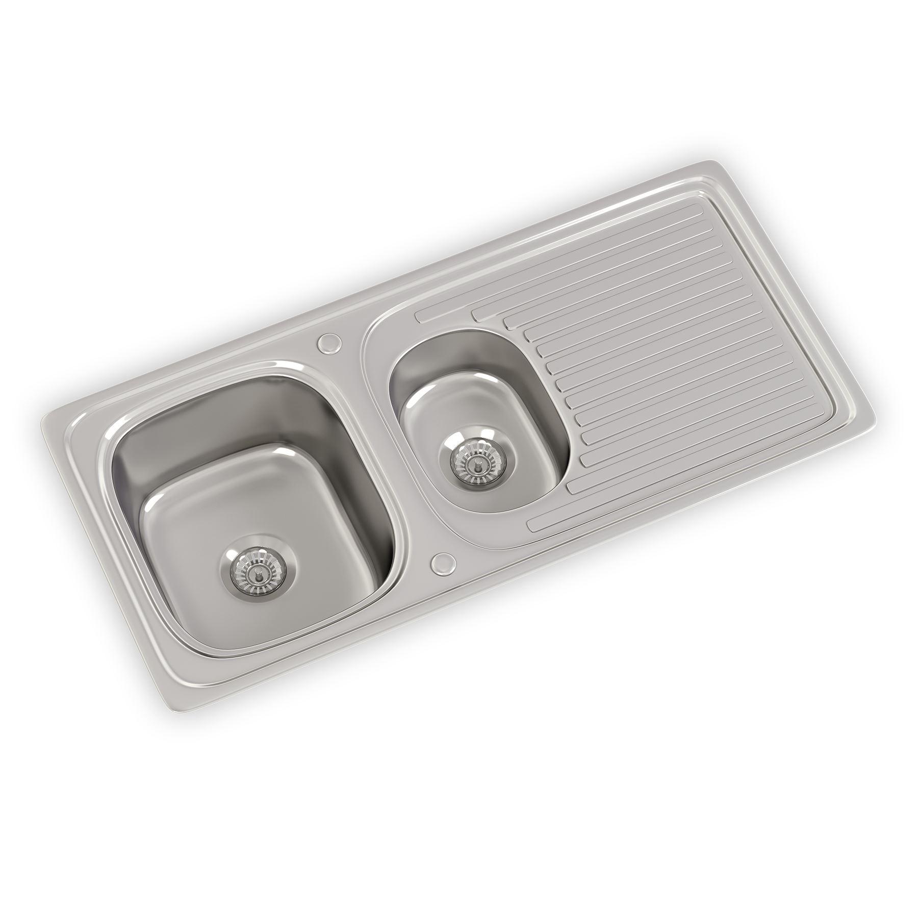 New stainless steel kitchen sink amp waste single