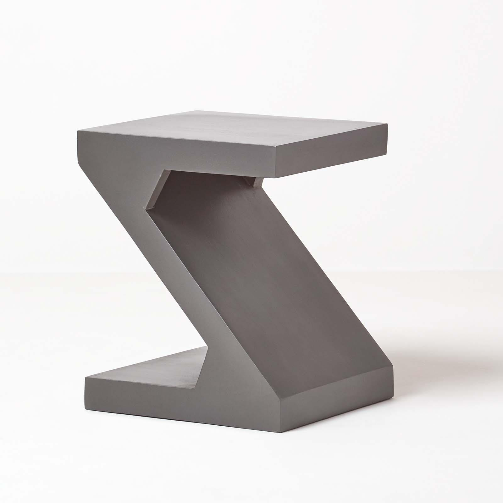 "Couchtisch Dakota Dakota ""z"" Shaped Side / End Table Handcrafted 100% Solid"