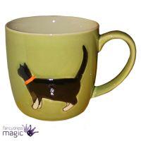 Gisela Graham Ceramic Coffee Mug Tea Cup Embossed Cat ...