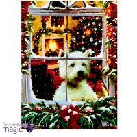 40 x 30cm Christmas Animal Scene LED Canvas Battery ...