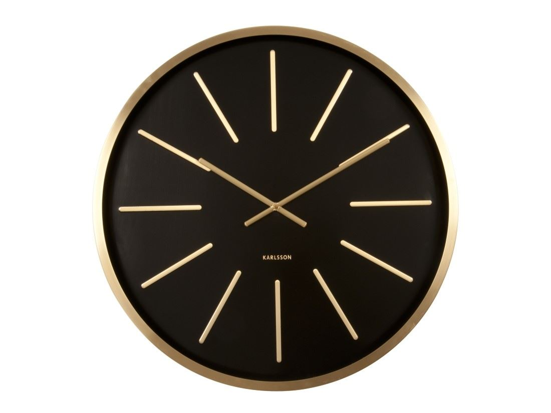 Where To Hang Wall Clock In Living Room Karlsson Maxiemus Brass Large Living Room Wall Clock
