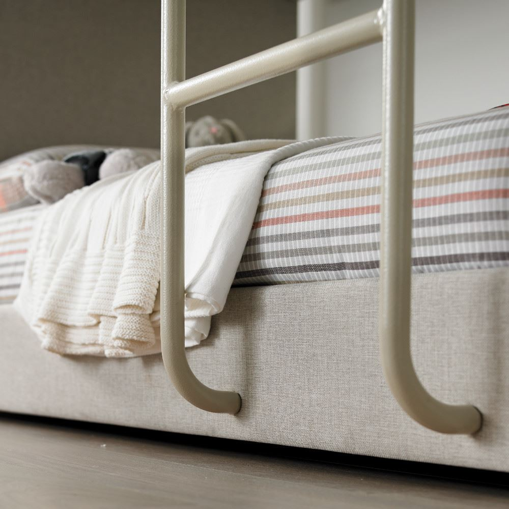 Saturn Bunk Bed Details About Saturn Oatmeal Neutral Fabric Bunk Bed 3ft Single With 4 Mattress Options