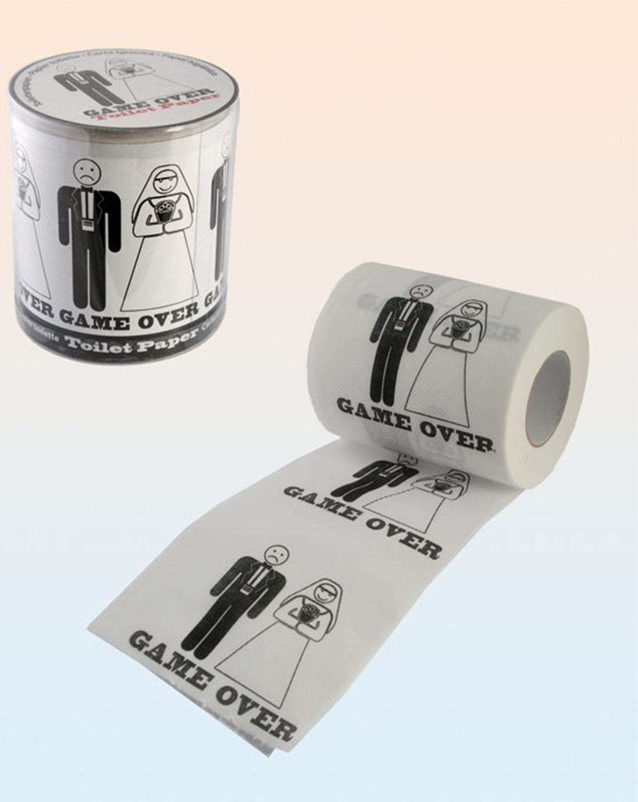 Funny Toilet Paper Novelty Game Over Wedding Toilet Paper Tissue Roll Party