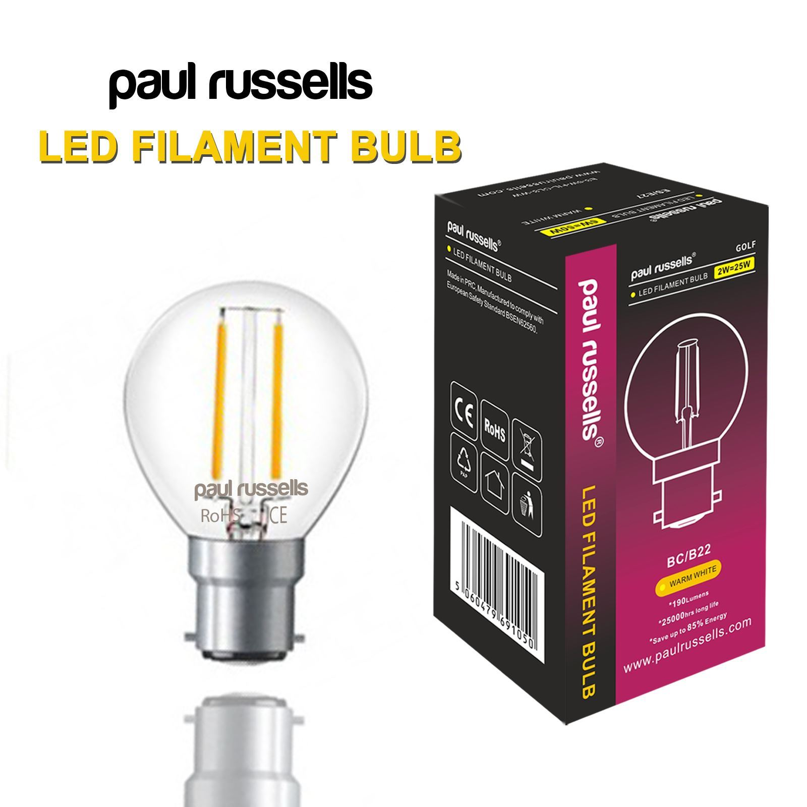 E14 Filament E14 B22 E27 Led Filament Bulbs Led Golf Gls Lamp Candle