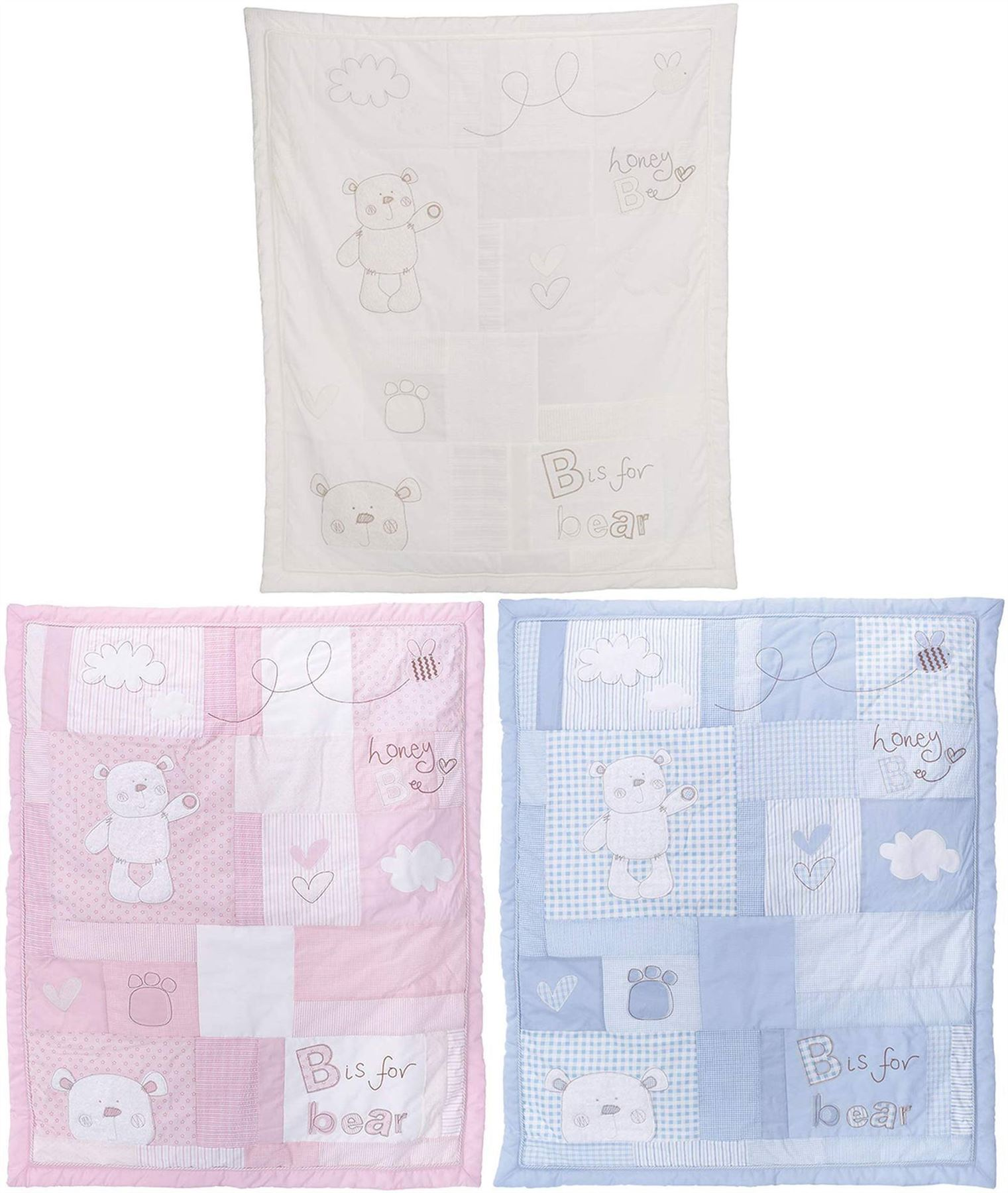 Patchwork Set Baby Details About Obaby B Is For Bear Quilt Bumper Cot Cot Bed Set Baby Toddler Nursery Bn
