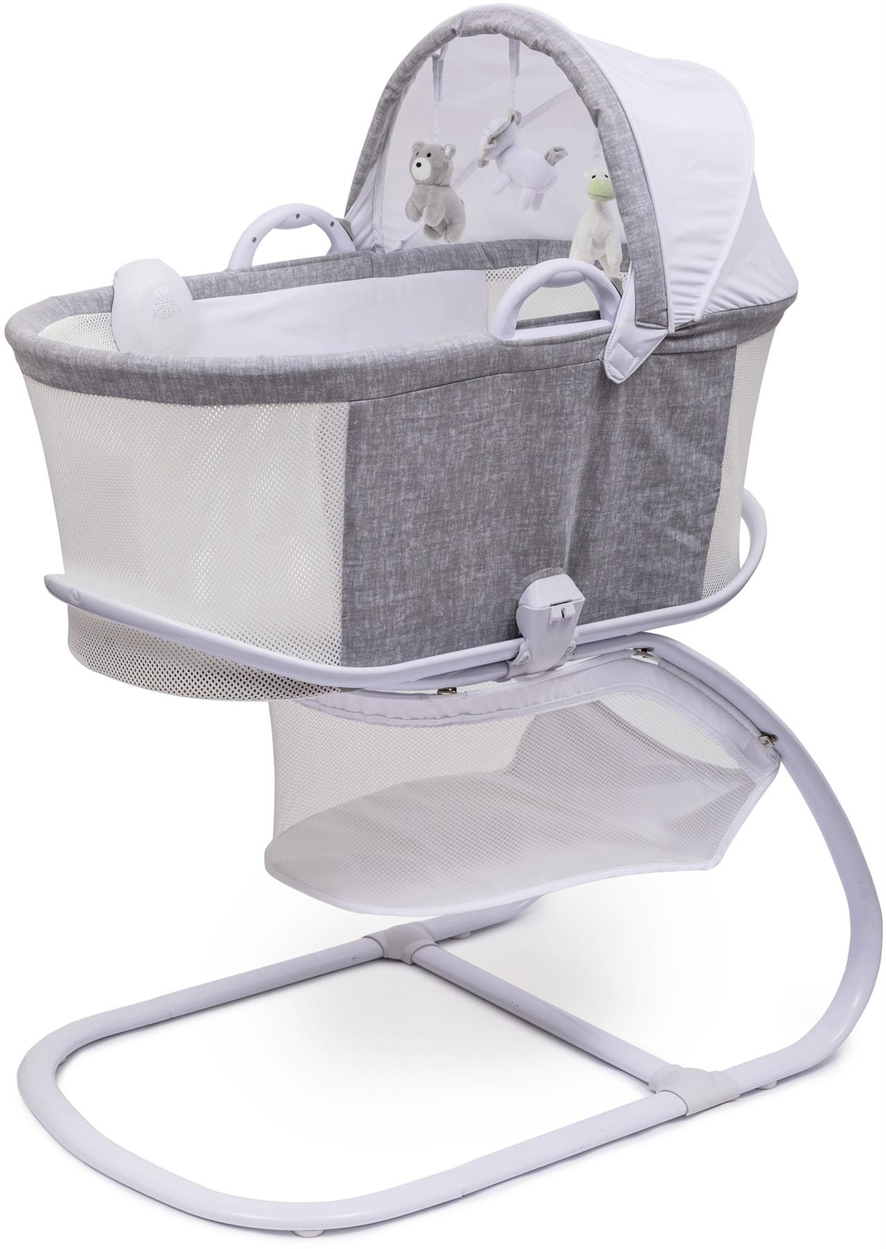 Baby Bassinet Moses Basket Details About Purflo Purair Breathable Bassinet Marl Grey Baby Moses Basket Cot