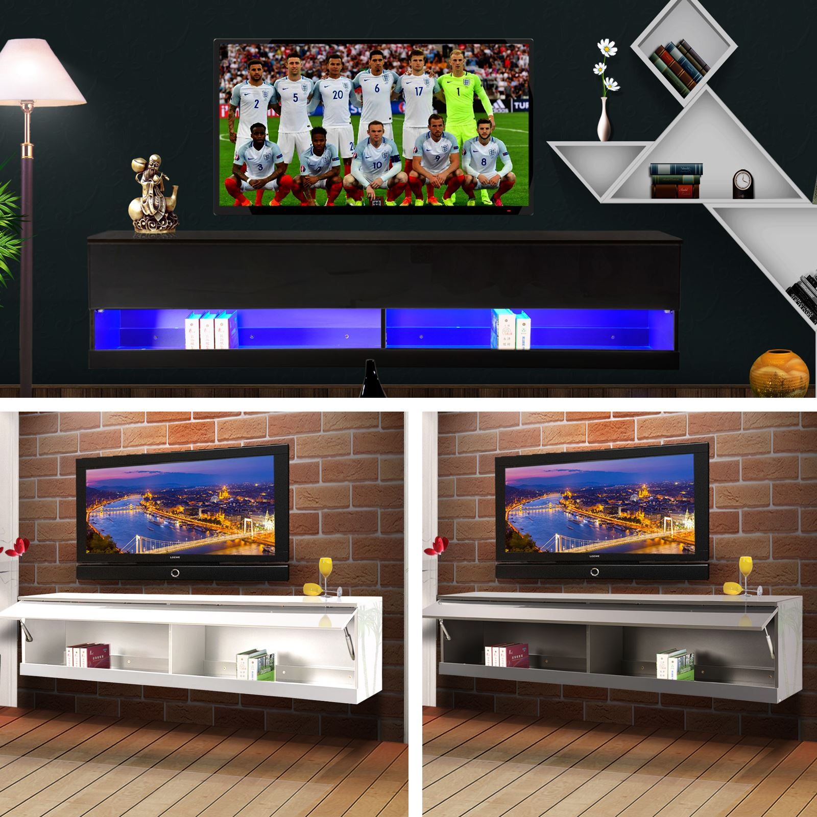 Wall Mounted Entertainment Unit Wall Mounted Tv Cabinet Entertainment Unit High Gloss