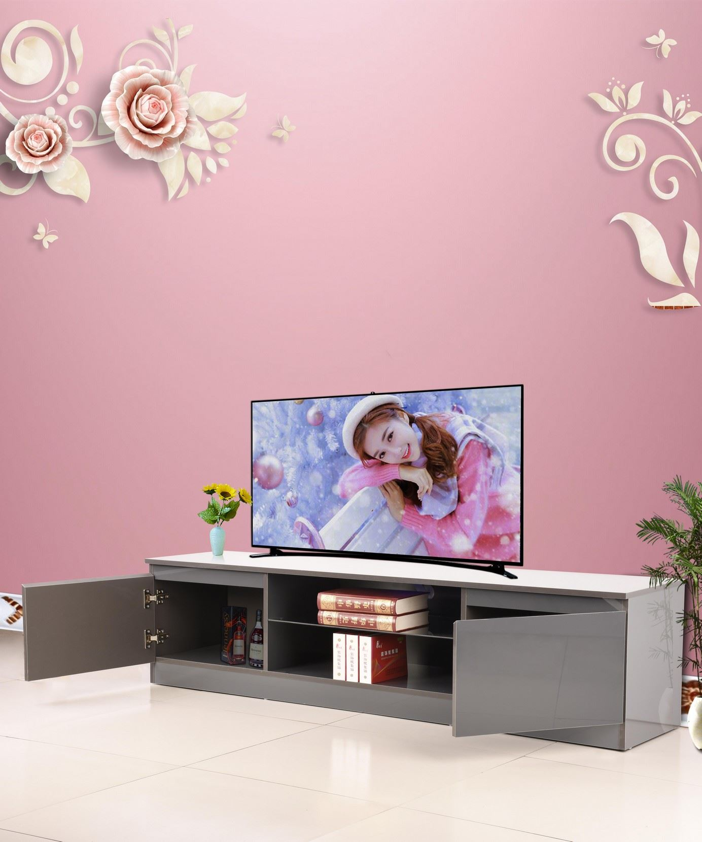Tv Sideboard Modern Modern Tv Cabinet White 160cm Stand Unit Furniture High ...