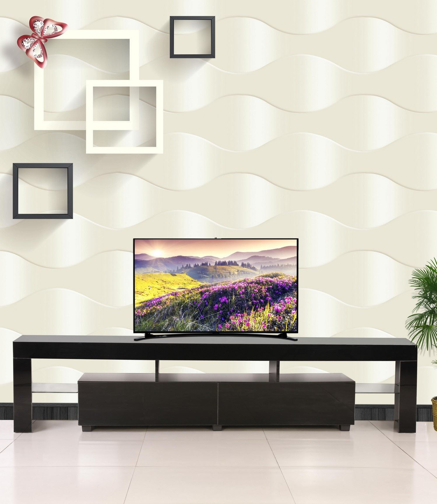 Tv Sideboard Modern Modern Tv Cabinet White 200cm Stand Unit Furniture High ...