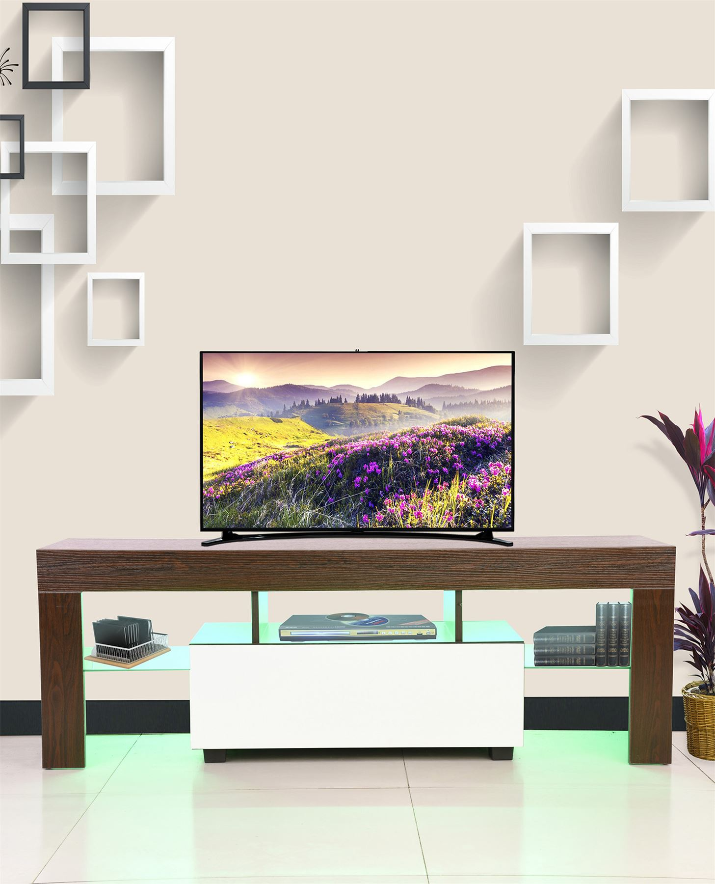Tv Sideboard Modern Modern Tv Cabinet White 130cm Stand Unit Furniture High ...