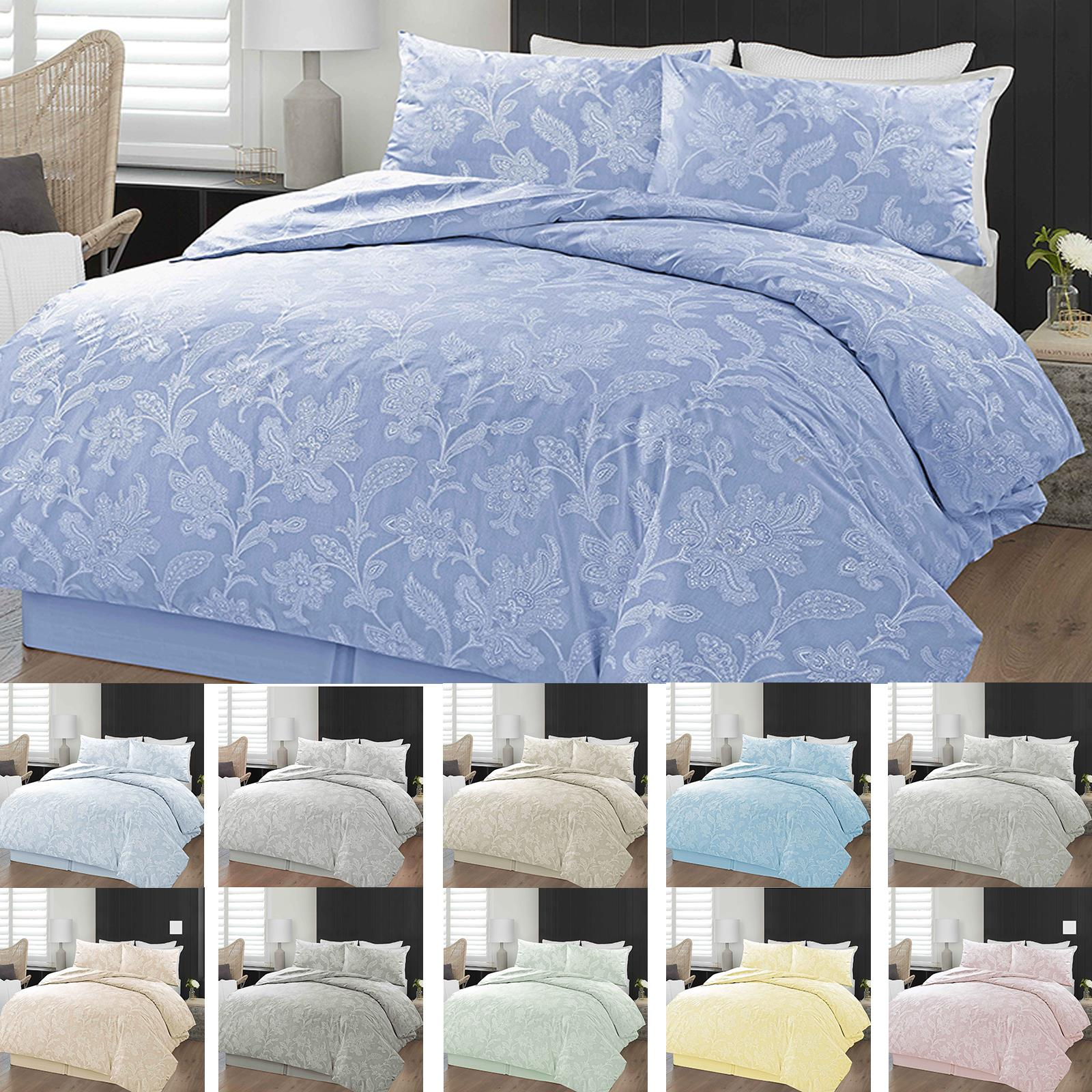 Chambray Bettwäsche Details Zu Chambray Floral Quilt Duvet Cover Bedding Set Single Double Super King Sizes