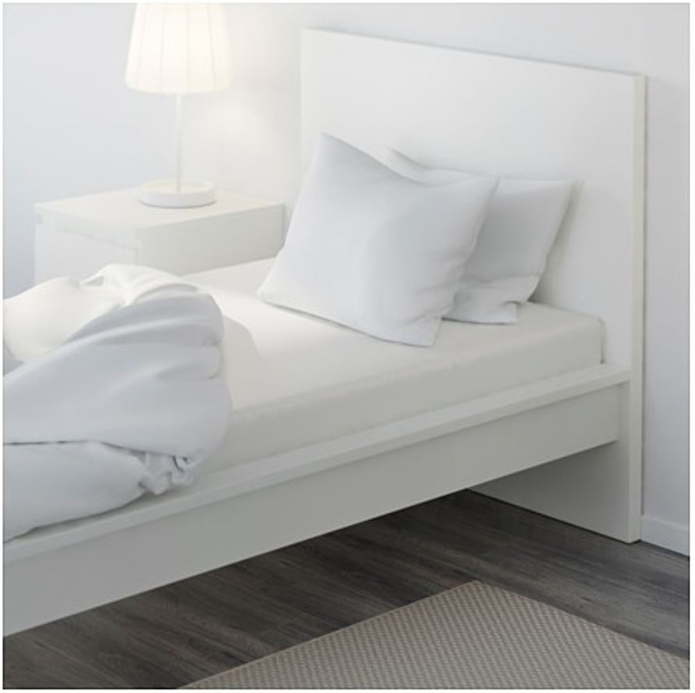 Long Single Bed Details About Ikea Knoppa White Bed Single Size Elasticated Long Fitted Cotton 90 X 100 Sheet