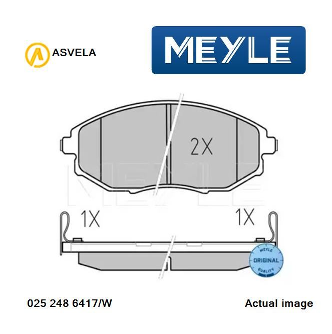 Brake Pad Set,disc brake for CHEVROLET EPICA,KL1,X 20 D1 MEYLE 025