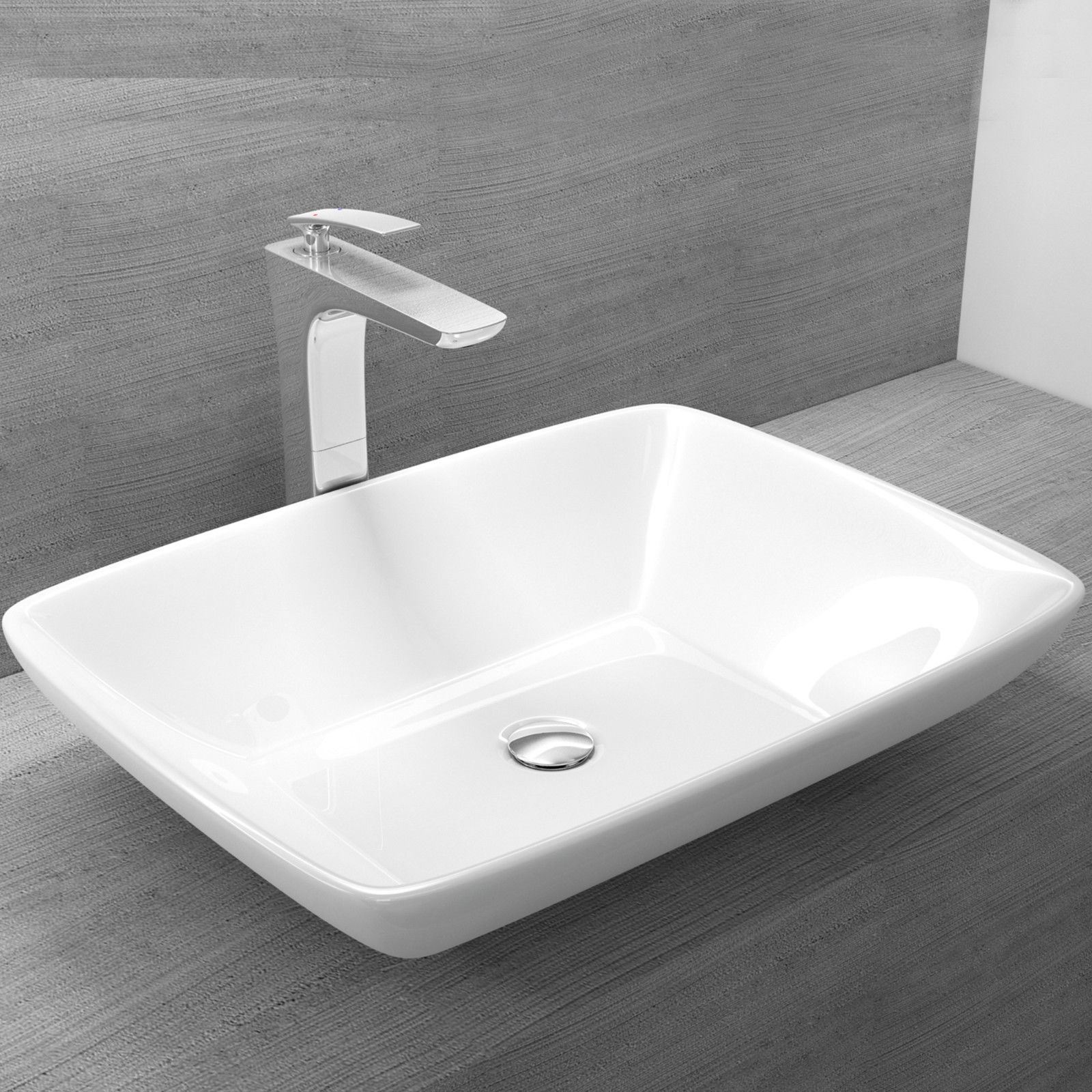 Marble Basin Countertop Durovin Countertop And Wall Hung Sink Gloss White Cast
